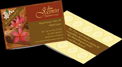 Jasmin Thaimassage Bonus-Karte