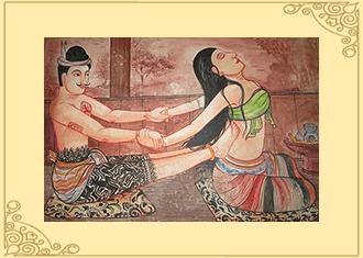 Traditionelle Thaimassage im alten Siam